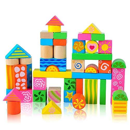 LIULAOHAN Baby Wooden Stacking Block Set Jouets, 0-3 Ans Enfants Petite enfance Création Pratique de Jouets
