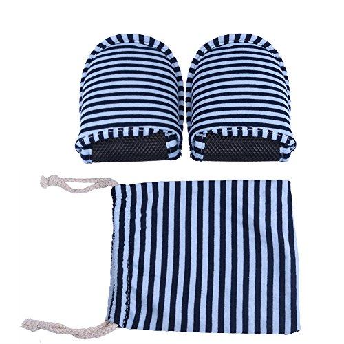 Pantofole pieghevoli da viaggio Unisex Uomo Donna Comodo portatile riutilizzabile Pantofola antiscivolo in cotone morbido interno con custodia 1 Paia(Man-Blue stripes)