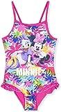 Disney - Bañador Traje de baño de una Pieza Minnie Mouse niñas (Fuchsia, Hiliday Crush, 6 años)