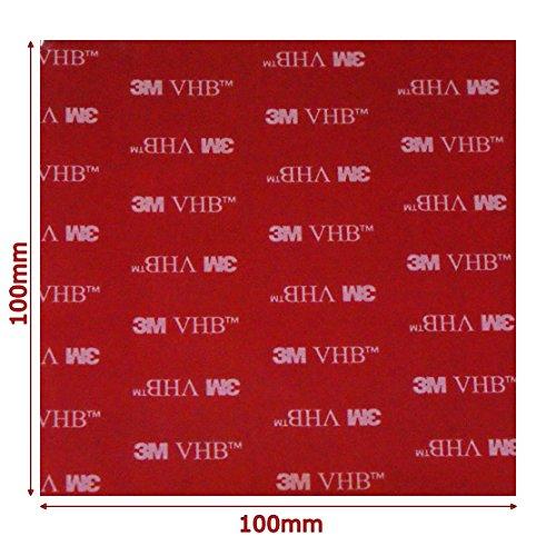 Thinsulate 3M 4910 Adhésif double face carré robuste Transparent 100 x 100 x 1 mm