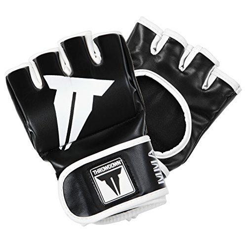 Throwdown Freedom Fighter - Guantes de entrenamiento para artes marciales, color negro,...