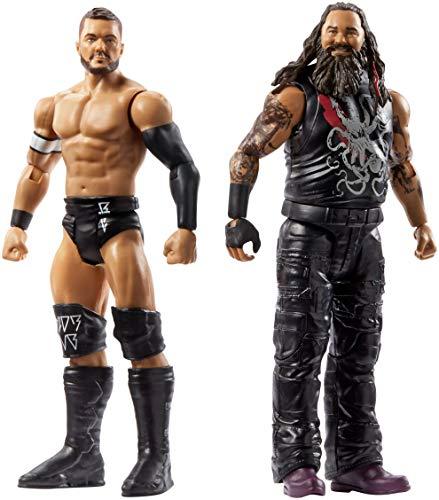 Mattel FMF88 WWE Finn Balor und Bray Wyatt 15 cm Basis Figuren 2er-Pack, Spielzeug Actionfiguren ab 6 Jahren