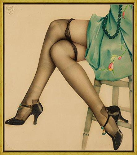 Berkin Arts Rahmen Alberto Vargas Giclée Leinwand Prints Gemälde Poster Reproduktion(Pin Up Girls 18)