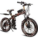 Biciclette per bambini, Biciclette per bambini, Bici da corsa per ragazzi 6-15 anni, Mountain Bike, Camo Brown (Size : 20 Inch)