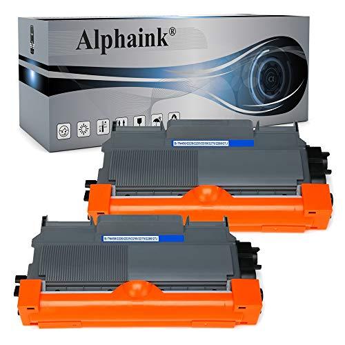 Alphaink 2 toner compatibile con Brother TN-2010 TN-2220 versione da 2.600 copie per stampanti Brother HL2230 HL2240 HL2250 HL2250N HL2250DN DCP7060D 7860DN MFC7360N HL2130 HL2135W DCP7057 FAX2840