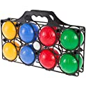 Hey! Play! Beginner Bocce Ball Set with 8 Balls, Pallino and Case