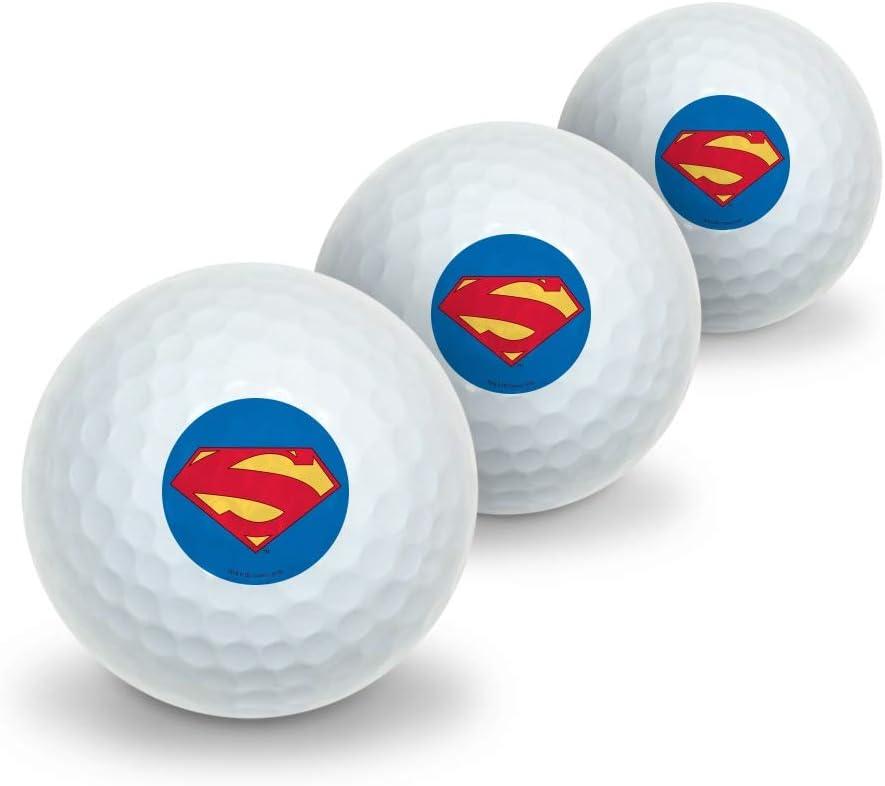 GRAPHICS MORE Superman New 52 OFFicial shop Shield 3 Novelty Logo Golf Miami Mall Balls