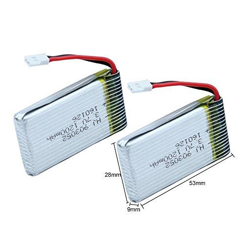 YUNIQUE ESPAGNE® 2 Piezas 3.7V 1200mAh batería de repuestos syma RC X5SW...
