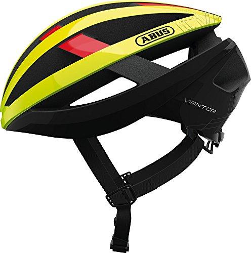 ABUS Viantor Rennradhelm - Sportlicher Fahrradhelm für Einsteiger - für Damen und Herren - 78163 - Gelb, Größe M