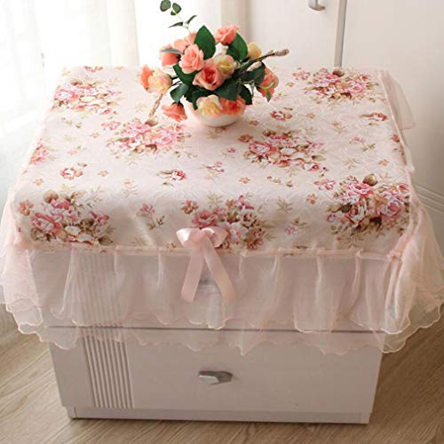 WEIHEEE Farmhouse Style Lace Tablecloth Classical Big Flower Hotel Tablecloth Bedside Table Cover Multi-Purpose Towel
