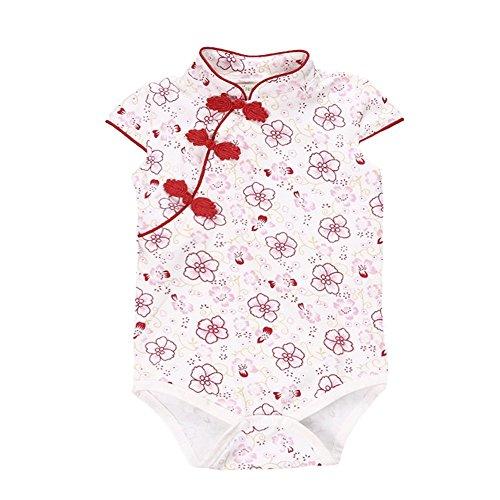 Fairy Baby Baby Girl Cheongsam Dress Short Sleeve...