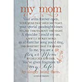 """My Mom Wood Plaque Inspiring Quote 6""""x9"""" - Classy Vertical Frame Wall & Tabletop Decoration   Easel & Hanging Hook   Your arms Forever Open, Your hugs That held me Tight"""