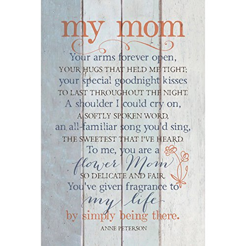 "My Mom Wood Plaque Inspiring Quote 6""x9"" - Classy Vertical Frame Wall & Tabletop Decoration 
