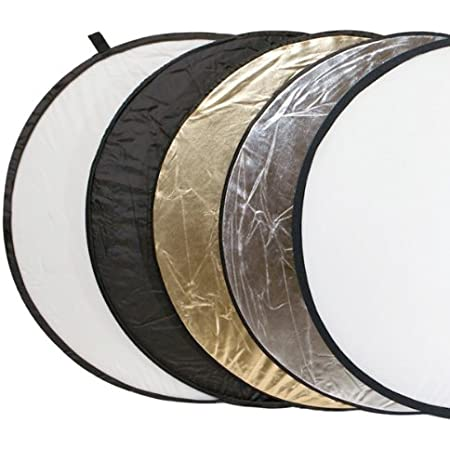 Delamax 5in1 Faltreflektoren Set 107cm Ø Gold Kamera