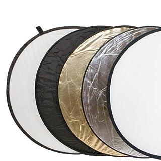 Delamax 5in1 Faltreflektoren Set - 107cm Ø - Gold, Silber, schwarz, weiß und Diffusor (B001GA25JC) | Amazon price tracker / tracking, Amazon price history charts, Amazon price watches, Amazon price drop alerts