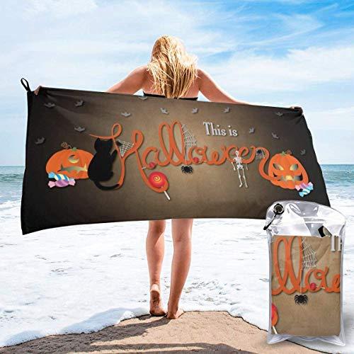 hgbygvuy Toalla refrescante de Microfibra, Toalla Deportiva refrescante para Viajes, Playa, Gimnasio, Camping, natación, Yoga, Esto es Halloween: Secado rápido, Ligero