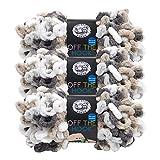 (3 Pack) Lion Brand Yarn 516-209 Off The Hook Yarn, Snowy Cosmo