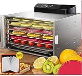 TXOZ-Q Máquina de deshidratador de alimentos de primera calidad con 6 bandejas de acero inoxidable, temporizador digital LED y control de temperatura de 35~70 ° C for la carne de res, brusca, fruta,