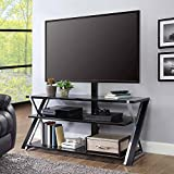 Whalen Furniture 3-in-1 Brown Tv Stand for Tvs up to 70'