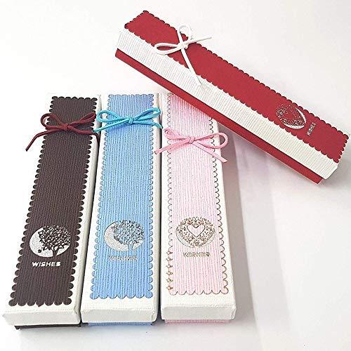Trade Shop - Scatola 20X4.5X3CM Wishes 3 Pezzi SCATOLE Orologio Bracciale Gioielli - 14166