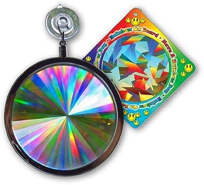 "Suncatcher - Axicon Rainbow Window - Includes Bonus ""Rainbow on Board"" Sun Catcher"