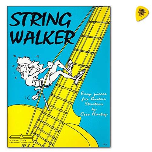 String Walker easy pieces for classical guitar - Gitarrenstücke für Anfänger - Notenbuch mit Dunlop Plek