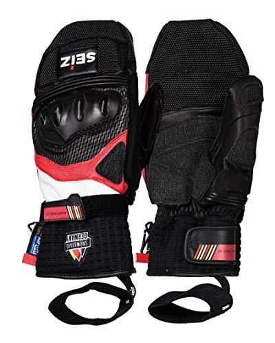 SEiZ Unisex – volwassenen Race Pro SB III snowboard racing handschoen, zwart, 7.5