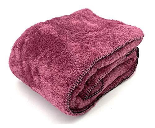 heimtexland ® Kuscheldecke Langfloor Teddy Fleece XL 200x150 Ökotex Plüsch Decke Super Soft Beere Pink Typ716