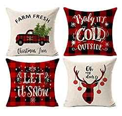 Christmas Buffalo Plaid Farmhouse Decor