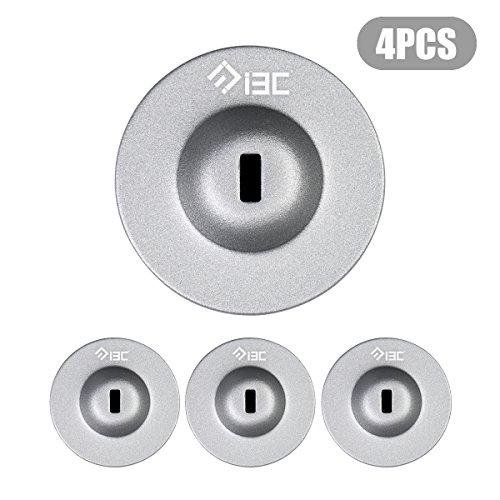 Candado de seguridad para computadora portátil I3C con cable antirrobo de combinación de teclas digitales de 4 dígitos con barril plateado (4 piezas de plata)