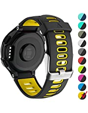Watbro Compatible with Garmin Forerunner 735XT Watch Bands, Soft Silicone Replacement Watch Band Strap Wristband for Garmin Forerunner 235/220/ 230/620/ 630/ 735XT for Men Women