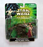 Princess Leia in Slave Girl Costume with Sail Barge Cannon Star Wars Power of the Force 3 3/4 Inch Action Figure