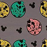 Loopomio Jersey Stoffe Disney Micky Maus Minnie Ohren grau