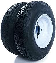 Set of 2 Trailer Tires & Rims 480-8 4.80-8 4.80x8 8