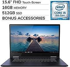 Lenovo Yoga 730 2-in-1 2019 15.6'' FHD Touch-Screen Laptop Notebook Computer,Intel 4-Core i5-8265U,16GB RAM,512GB SSD,Backlit Keyboard,No DVD,Wi-Fi,Bluetooth,Webcam,HDMI,Win 10 Home,Bonus Accessories