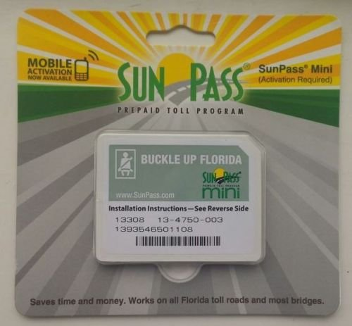SunPass Mini Sticker Pre-Paid Toll Program For Florida (Styles may vary)