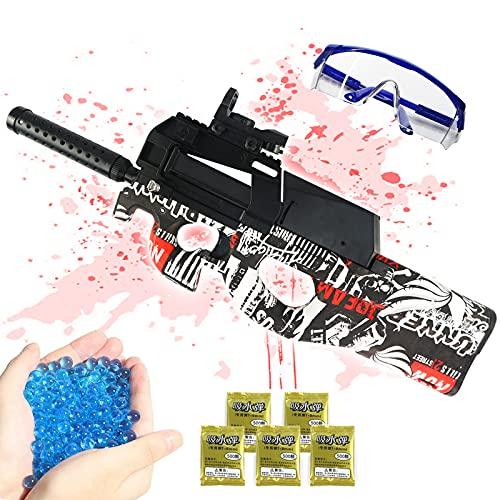 Gel Ball Gun,KUBLAI P90 Electric Gel Gun Blaster Shoot Water Bullet Beads Highly Assembled Toy Rifle...