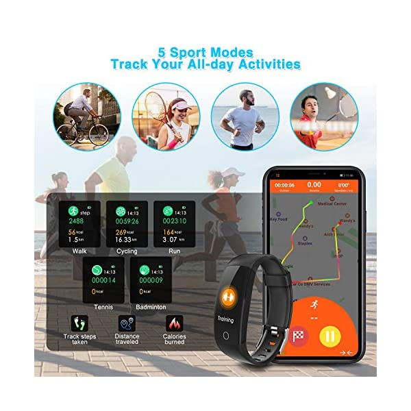 ELEGIANT Pulsera de Actividad Inteligente, Reloj Inteligente IP67 Deportivo 3D UI Hombre Mujer Niño Podómetro con GPS… 3