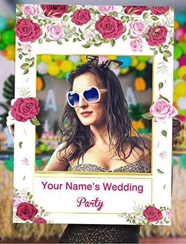 Sayala Photobooth Mariage DIY Accessoire Kit,Brillants Or Rose Team Bride Accessoire Photobooth Frame Masquerade pour Décoration Mariage Enterrement de Vie de Jeune Fille