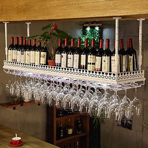 FBBSZSD Estantes para Vino Estante Organizador Estante para Vino Colgador para Colgar Estante para Copas de Vino de Hierro Soporte para Vasos al revés Gabinete para Vino para Bar Cocina Pa