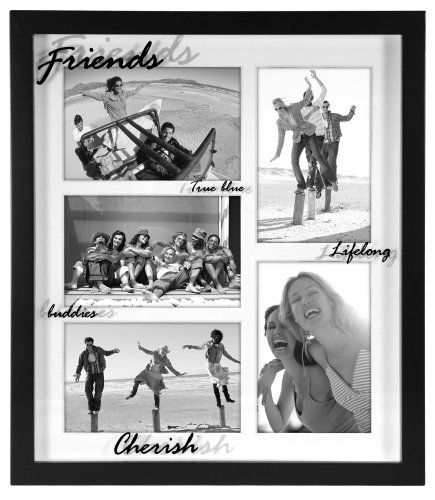 Malden Friends 5-Photo 4-by-6-Inch Collage Frame, Bl