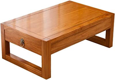 Coffee Table Small Coffee Table Low Table Japanese Table Coffee Tables for Living Room Wood Coffee Table Short Table Floor Table Coffee Tables (Color : Yellow, Size : 70 * 45 * 30cm)