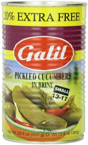 Galil Pickled Cucumbers in Brine Small 13 17 20 Extra 23 Ounce Cans Pack of 6 product image