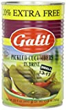 Galil Pickled Cucumbers in Brine, (Small 13-17) + 20% Extra, 23-Ounce Cans (Pack of 6)