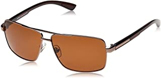 TFL Rectangle Sunglasses for Men - Brown, MT8434-C8-90