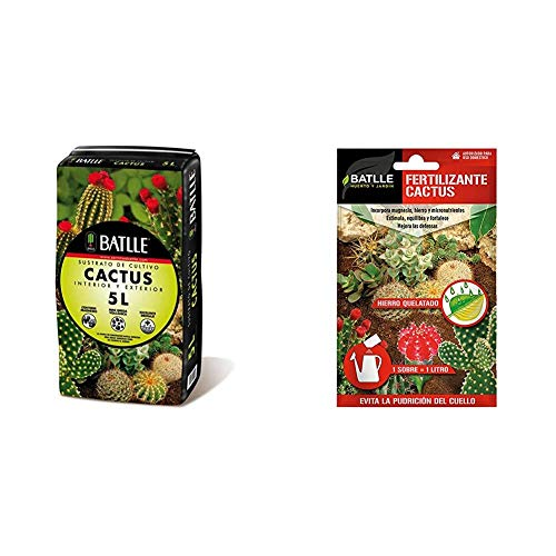 Sustratos - Sustrato Cactus 5l. - Batlle + Abonos - Fertilizante Cactus sobre para 1L - Batlle