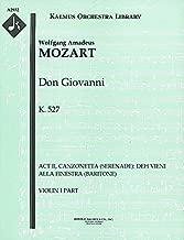 Don Giovanni, K.527 (Act II, Canzonetta (Serenade): Deh vieni alla finestra (baritone)): Violin I part (Qty 7) [A2932]