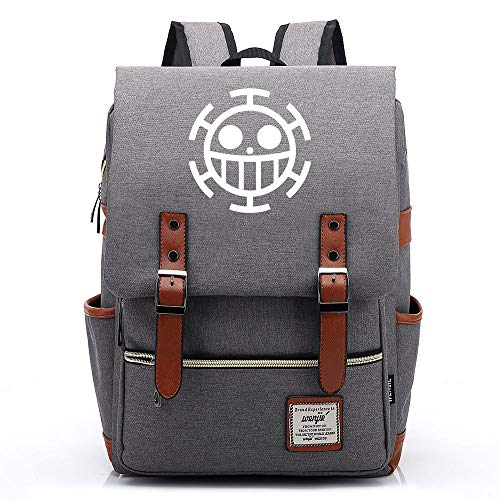 Teenager College School Backpack, Anime One Piece Casual Backpack, Travel Hiking Rucksack, Fits 15' Laptop Tablet 14 inches. 15 by Color Card Picture.