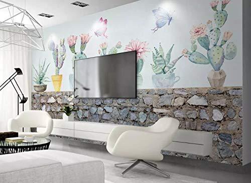 """3D Cactus Potplanten WG0641 Behang Afdrukken Decal Deco Binnen Muur Muurschildering Zelfklevend Behang AJ WALLPAPER NL Muzi (Vinyl (geen lijm en verwijderbaar), 【123""""x87""""】312x219cm(WxH))"""