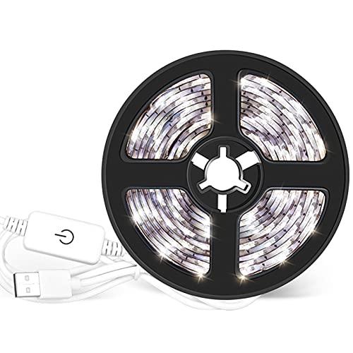 Funien Tiras de luz,Tiras de LED Regulables por USB Control de luz táctil 4m 240LEDs Luz de Cuerda para TV Computadora Fondo de Escritorio Hogar Cocina Iluminación Decorativa